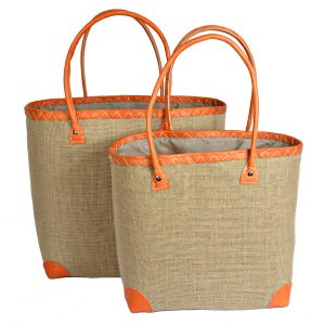 Farmer's hessian market baskets